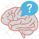 Question Mark Brain Icon