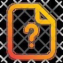 File Question Mark Document Icon