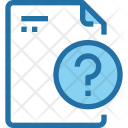 Question File Document Icon