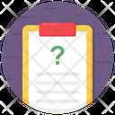 Questionnaire Faq Question Form Icon