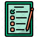 Questionnaire Satisfaction Checklist Icon