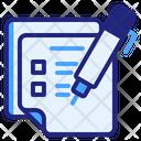Questionnaire Pen File Icon