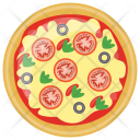 Black Olives Pizza Icon