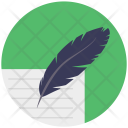 Letter Document Feather Icon