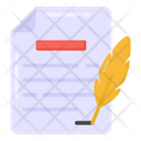 Quill Document Quill Paper Vintage Writing Icon