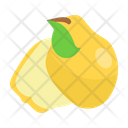 Quince Fruit Fresh Icon