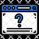 Quiz Question Mark Seo Icon