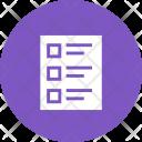 Quiz Exam Paper Icon