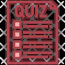 Quiz Paper Quiz Exam Icon