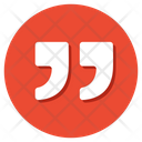Quotes Quotation Marks Speech Marks Icon