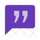 Quote Chat Chatting Icon