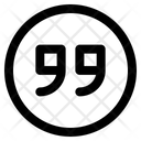 Quote Symbol Edit Tool Icon
