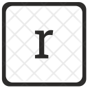R Lowcase Element Icon