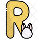R Alphabet Education Icon