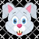Rabbit Hare Face Icon