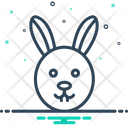 Rabbit Conejo Face Icon