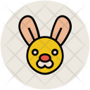 Rabbit Face Cartoon Icon