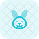 Rabbit Closed Eyes Icon