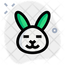 Rabbit Closed Eyes Icon