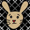 Rabbit Face Pet Animal Bunny Icon