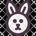 Spring Rabbit Face Rabbit Icon