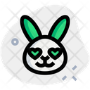 Rabbit Heart Eyes Icon