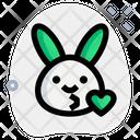 Rabbit Kiss Icon