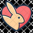 Rabbit Love Icon