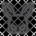 Rabbit Mask Icon