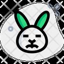Rabbit Sad Closed Eyes Icon