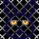 Rabbit Sad Face Icon