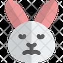 Rabbit Sad Face Animal Wildlife Icon