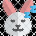 Rabbit Sleeping Animal Wildlife Icon