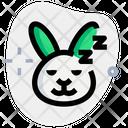 Rabbit Sleeping Icon