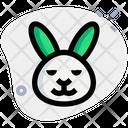 Rabbit Smiling Closed Eyes Icon