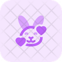 Rabbit Smiling With Hearts Icon
