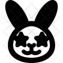 Rabbit Star Struck Icon