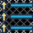 Race Route Arrows Lines Icon