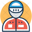 Racer Athlete Runner Icon
