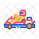 Driver Driving Kart Icon