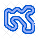 Track Karting Color Icon