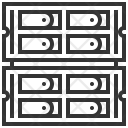 Rack Server Data Icon