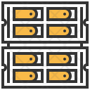 Rack Server Database Icon