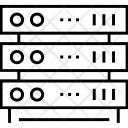 Rackmount Server Database Icon