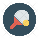 Racket Table Tennis Ball Icon