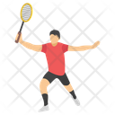 Sports Day Racket Player Game Time Icon
