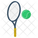 Racket With Ball Icon