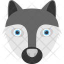 Black Racoon Face Icon