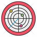 Radar Security Protection Icon
