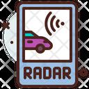 Radar Smart Car Wifi Car Icon
